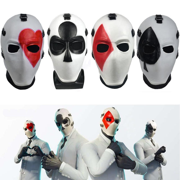 Game Fort-nite Poker Face Mask Helmet Halloween Cosplay Mask