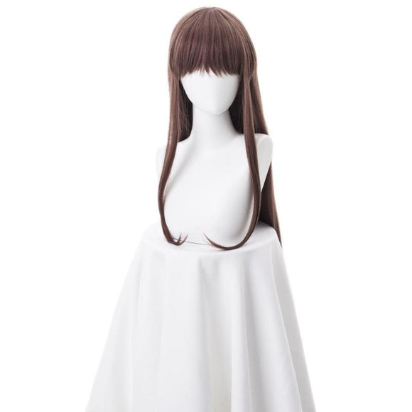 Fruit Basket Tohru Honda Cosplay Wig Brown Wig Long for Girls Cosplay Wear