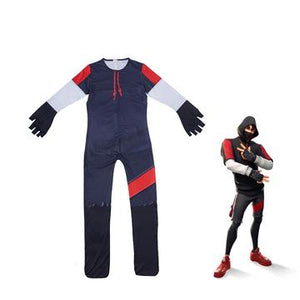 Fortnite Ikonik Skin Cosplay Costume Ice Silk Jumpsuit for Kids Cosplay