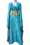 Game of Thrones Cersei Lannister Light Blue Luxury Dress Cosplay Costume