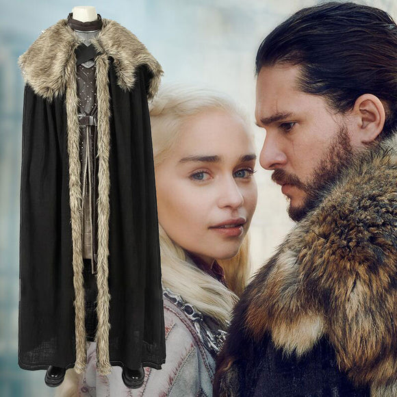 Game of Thrones Season 8 Jon Snow Cosplay Costume Suit Cosplay for Adults