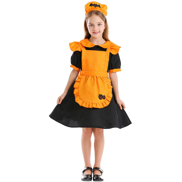 Jack-o-Lantern Dress Costume Halloween Cos Prop for Girls