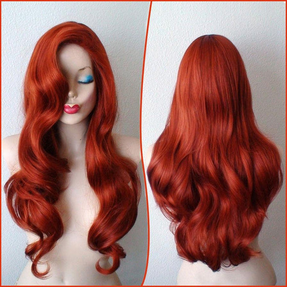 Jessica Rabbit Wig Cosplay Red Wig 85CM Halloween Cosplay Wig