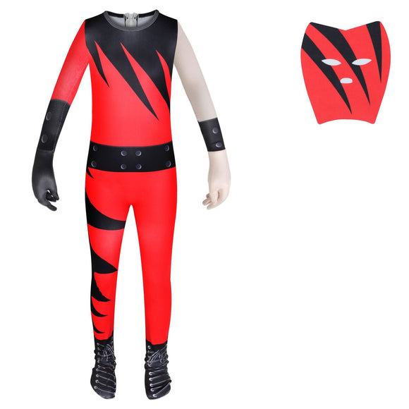 Kane Wrestling Star Halloween Costume Suit for Kids Halloween Supplies