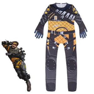 Kids Apex Legends Mirage Cosplay Costume Onesie Cosplay Jumpsuit Dress up