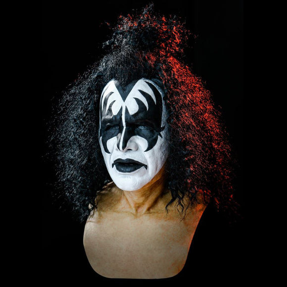 Kiss Gene Simmons Demon Costume Headgear Halloween Decoration Cosplay Prop