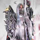 Lady Gaga Headgear LED Face Cover Halloween Party Stage Concert Cosplay Props