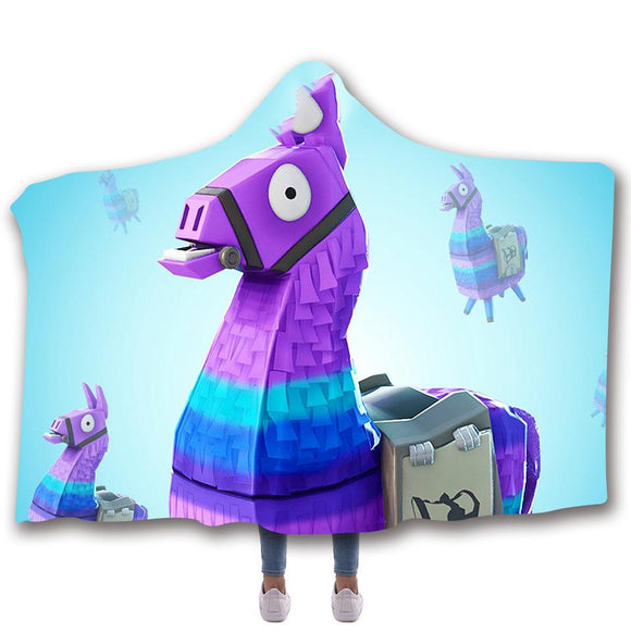 Loot Llama Hooded Blanket Blanket for Boys and Girls Fort-nite