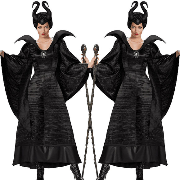 Maleficent Mistress of Evil Black Costume Black Christening Gown Women Costume Cosplay Halloween