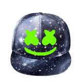 Marshmello Fans Galaxy Grey Baseball Cap Hip Hop Hat Snapback Caps Luminous