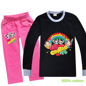 Me Contro Te Pajamas Sleepwear Long Sleeve Costume Pajamas Boys Girls 2 Piece Pajama Set Sleepwear for Kids