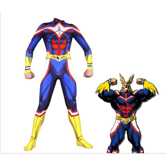 My Hero Academia All Might Costumes Cosplay Full Body Jumpsuit Male