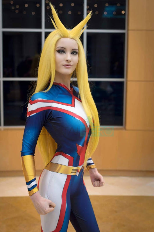 My Hero Academia All Might Female Cosplay Costume Halloween Cosplay