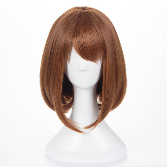 My Hero Academia Ochaco Uraraka Cosplay Wig Dark Brown Wig Cosplay Short Wig