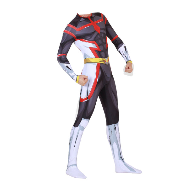 My Hero Academia Two Heroes Young All Might Cosplay Costume Body Suit for Adult