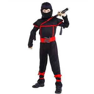 NARUTO Red And Black Costumes Jumpsuit Cosplay For Kids