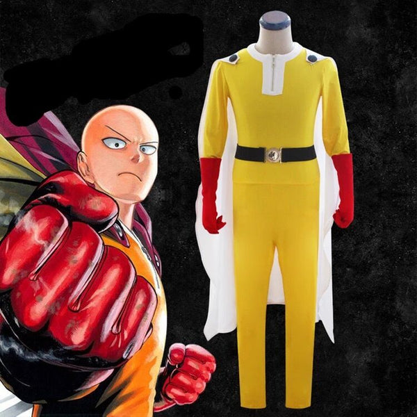 One-Punch Man Costume Saitama Costume Outfits Cosplay  Jumpsuit Set