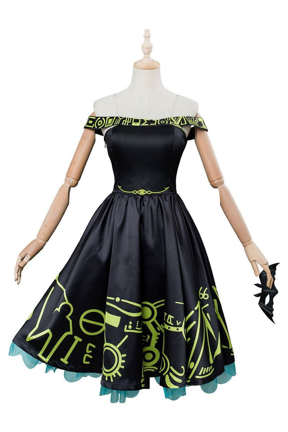 Persona 5 Futaba Sakura Cosplay Costume Party Dress Black Dress