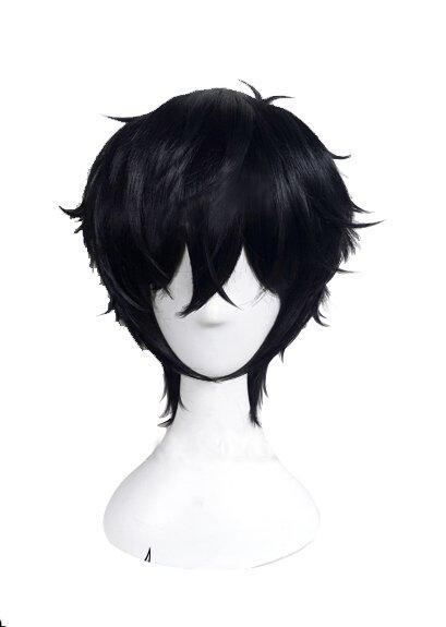 Persona 5 Joker Wig Cosplay Wig for Men Black Wig