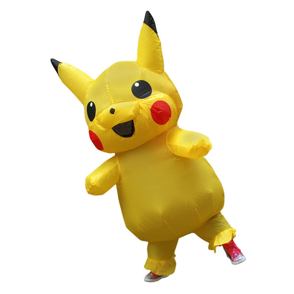 Pokémon Pikachu Yellow Kids Inflatable Costume Cosplay Halloween Cosplay