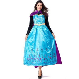 Princess Elsa Costume Halloween Cos Prop for Women