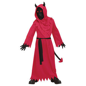 Red Devil Costume with LED Light Halloween Cos Prop for Kids