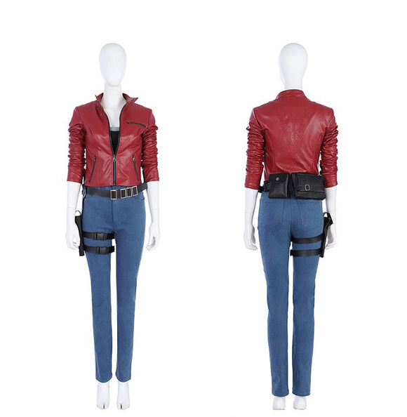 Resident Evil 2 Remake Claire Redfield Cosplay Costume Whloe Set for Women Cosplay