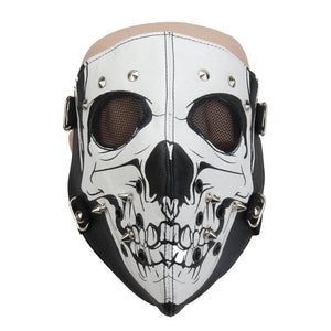 Rivet Face Cover Skull Headgear Halloween Cos Prop