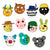 Roblox Piggy Headgear 12 Characters Face Cover Rubby Solider Torcher Zizzy Bunny M.P Face Cover with Elasticated Strap Halloween Party Costume Prop Supplies