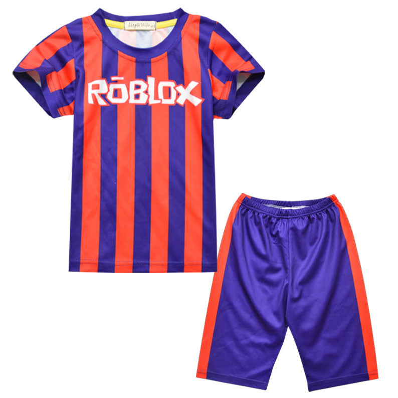 Video Roblox Football Roblox Soccer Sportswear Football Jersey And Shorts For Kids Suit Uncostume