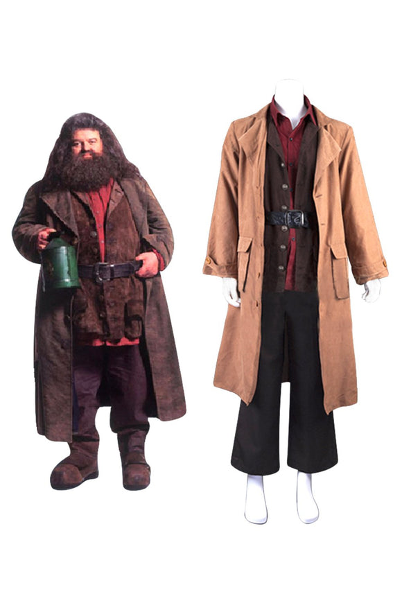 Rubeus Hagrid Cosplay Costume Harry Potter Jacket Halloween