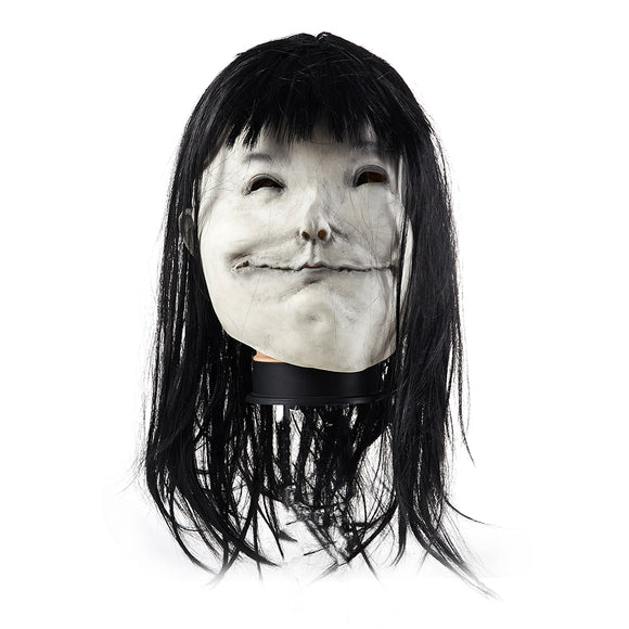 Scary Stories to Tell in the Dark The Pale Lady Mask Latex Cosplay Mask Wigs Halloween Cosplay Accessories
