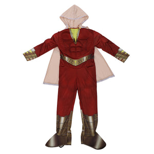 Shazam Costume Muscle Jumpsuit for Kids Cosplay Prop