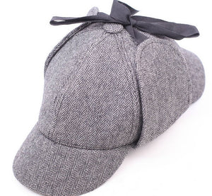 Sherlock Holmes Hat Gray Hat Cap Cos Play for Adults and Children