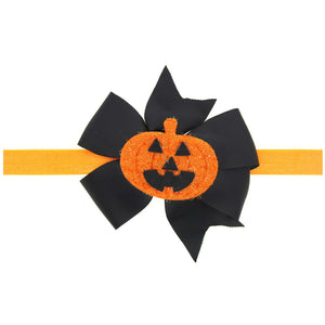 Skeleton Pumpkin Halloween Party Bowknot Hair Band Baby Hair Band Headband Accessories Decorations