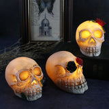 Skull Led Light Halloween Decoration 3 Pcs