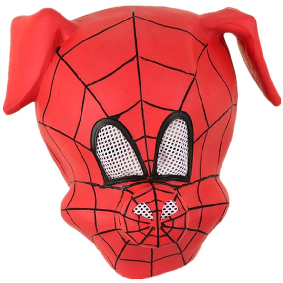 Spider Ham Peter Porker Mask Headgear Latex Halloween Cosplay Headgear