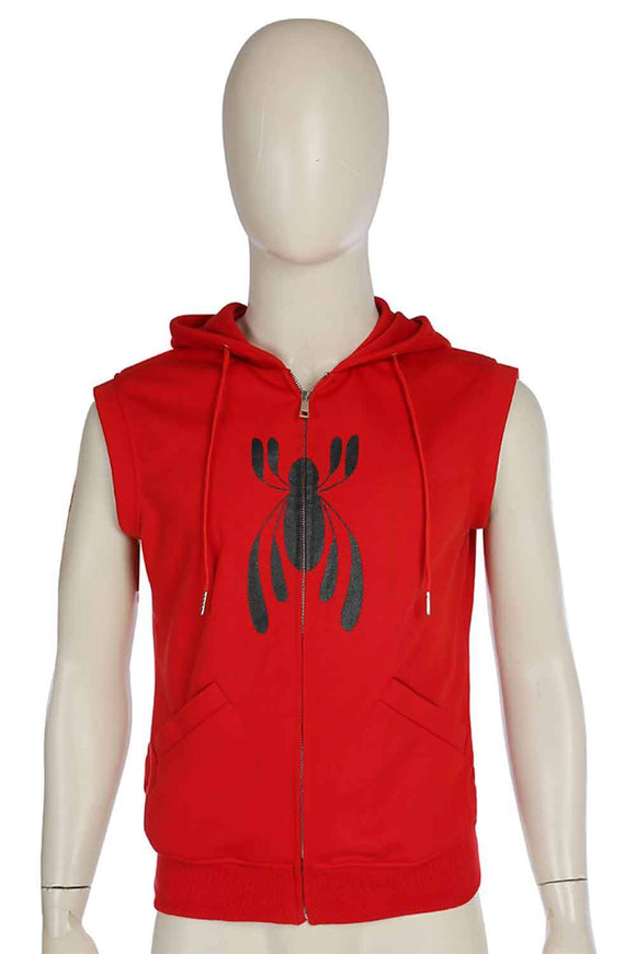 Spider Man Hooded Zipper Waistcoat Jacket