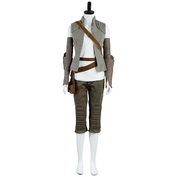 Star Wars 8 Rey Cosplay Costume Women Cosplay Halloween