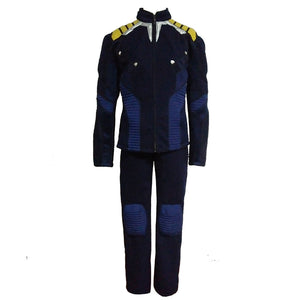 Captain Cosplay Costume Blue Uniform New Version