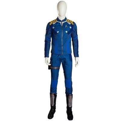 Captain Kok Uniform Cosplay Costume Blue Full Set