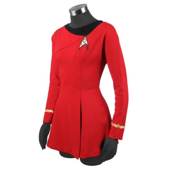 Deluxe Uhura Costume Cosplay Services Red Dress Uniform Halloween Cosplay