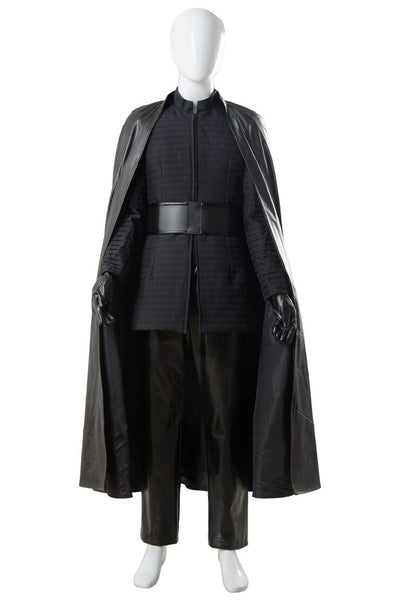 Star Wars 8 Kylo Ren Cosplay Costume Black Costume for Men Halloween Cosplay