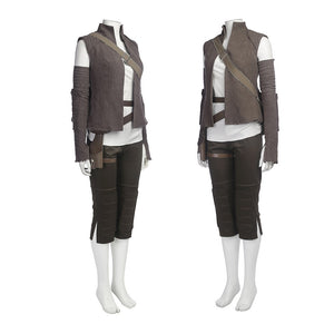 Star Wars 8 Rey Cosplay Costume Whole Set Women Cosplay Halloween