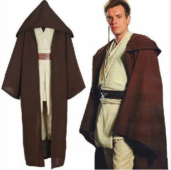 Star Wars Obi Wan Cosplay Costume Whole Set Halloween Cosplay