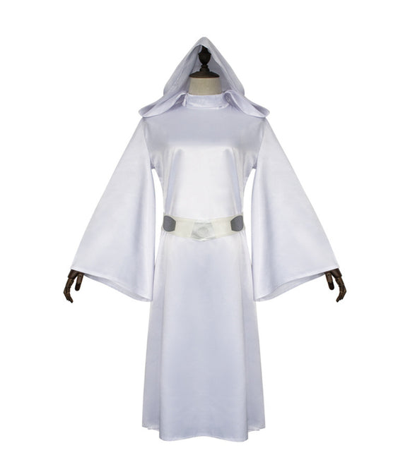 Star Wars Pricess Leia Cosplay Costume White Dress Cosplay Halloween Cosplay