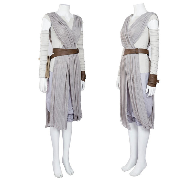 Star Wars Rey Cosplay Costume Adult for Women Halloween Cosplay