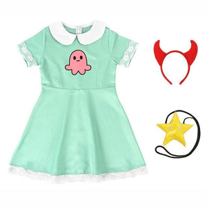 Star vs. the Forces of Evil Star Butterfly One Piece Dress Skirt Cosplay Costume for Kids