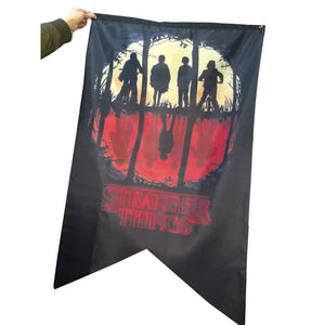 Stranger Things Banner Flag For Party Two Version