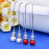 Stranger Things Light Bulb Earrings Red and White